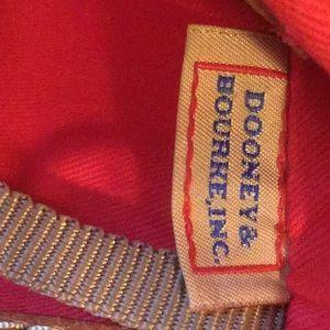 Dooney & Bourke Bags - Dooney & Bourke Brown Bag With Red Lining